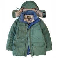 "Made in USA / 80-90s Eddie Bauer / ""Ridge Line"" Goose Down Jacket / Green × Navy / Used"