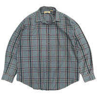 80s L.L.Bean / Check Shirt / Green × Burgundy / Used