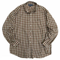 """90's Raph Lauren / Cotton Multi Checked B.D Shirt """"YARMOUTH"""" / Used"""