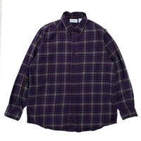 Made in USA / L.L.Bean / L/S B.D.Check Shirt / Purple / Used
