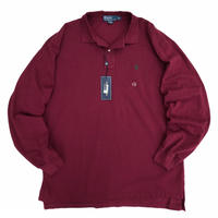 Dead Stock / POLO by Ralph Lauren / Cotton One Point Polo Shirt / Burgundy / Used