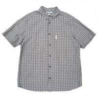 Columbia / S/S Seersucker B.D. Check Shirt / Black / Used