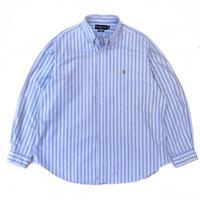 """Ralph Lauren / Cotton B.D.Striped Shirt """"CLASSICFIT"""" / White × Blue / Used"""