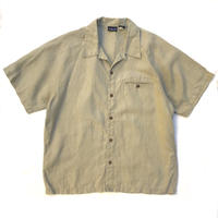 90s Patagonia / S/S Open Collar Linen Shirt / Beige / Used
