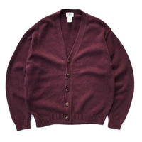 00s L.L.Bean /  Cotton Cardigan / Burgundy / Used