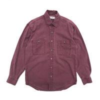 L.L.Bean / L/S Cotton Shirt /  Lt Pueple / Used