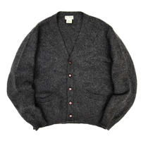 Made in USA / 80s L.L.Bean / Wool Cardigan / Charcoal / Used