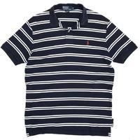Polo Ralph Lauren / Border Polo Shirt / Navy × White / Used