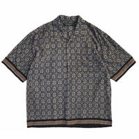 Exotic Patterned Open Collar Shirt / Used