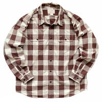 FILSON GARMENT / Block Checked Shirt / Brown × White / Used