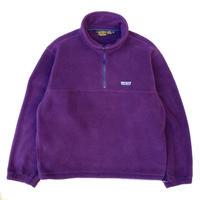 80-90s Eddie Bauer / Pullover Fleece Jacket / Purple / Used