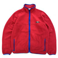 Made in USA / 80s L.L.Bean / Fullzip Fleece Jacket / Red / Used