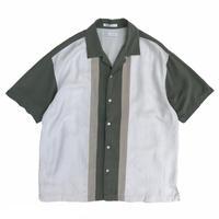 Multi Color Open Collar Silk Shirt / Used