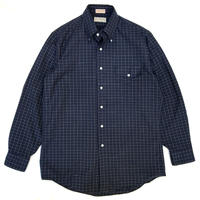 Made in USA / 80s L.L.Bean / Cotton B.D Check Shirt / Navy / Used