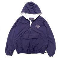 90s JANSPORT / Sweat Lined Nylon Anorak / Purple  / Used