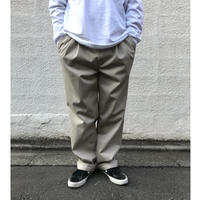 Cotton 2Tuck Slacks  / Beige / Used