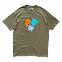 Bedlam x Crack Gallery / 3 FACE S/S Tee / Olive
