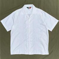 Made in USA / D' Accord / Open Collar Cuba Shirt / White