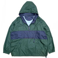 OLD Gap / Nylon 2 Tone Anorak  / Green × Navy / Used