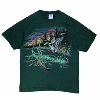 Made in USA / 90's Wild Duck Tee / Olive / Used