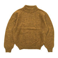 Made in USA / 70s Campus / Pullover Knit Sweater / Mustard / Used