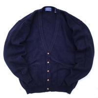 90s PENDLETON / Shetland Wool Cardigan / Navy / Used