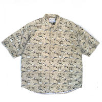 Columbia / S/S B.D. PFG Fishing Shirt  /  Lt Grey / Used
