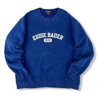 00's Eddie Bauer / Patch Logo Sweat / Blue XL / Used