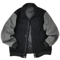 00s Banana Republic / Wool Sport Jacket / Black × Grey / Used