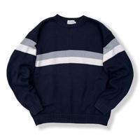 J.CREW / Border Cotton Knit / Navy M / Used