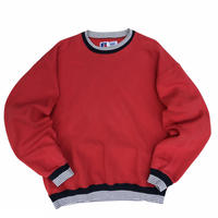 Made in USA / 90s Russell Authentic / Rib Sweat / Red / Used