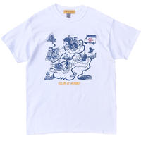 Color at Against Originals /  Down The River Tee / White