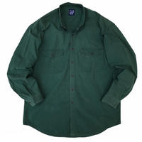 90's OLD GAP / 2Pocket Cotton B.D Shirt / Forest / Used