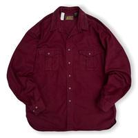 80's Eddie Bauer / Chamois Cloth Shirt / Burgundy XL / Used
