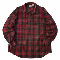 90s GAP / Cotton Check Flannel Shirt / Black × Red / Used