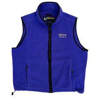 Made in USA / 90's EBTEK by Eddie Bauer / Embroidered Logo Fleece Vest / Lt.Purple M / Used