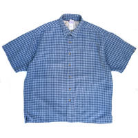 THE NORTH FACE / S/S  Outdoor Shirt / Blue / Used