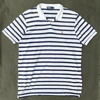 Polo Ralph Lauren / Border Polo Shirt / WHT×NVY / Ued