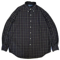 Polo Ralph Lauren / Cotton B.D. Checked Shirt / Navy / Used