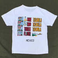 "Made in USA / ""MEXICO TEQUILA"" Tee / White / Used"