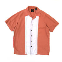 S/S Linen Open Collar Shirt / Apricot / Used