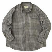 90's Eddie Bauer / Cotton Multi Check B.D. Shirt / Used