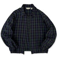 90's Eddie Bauer / Multi Checked Cotton Jacket / L / Used