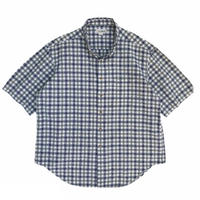 Made in USA / 90s L.L.Bean / Cotton Mulch Check B.D.S/S Shirt / Used