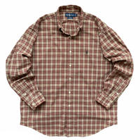 "90's Raph Lauren / Cotton Multi Checked B.D Shirt ""BLAKE"" Used"