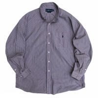 "90's Raph Lauren / Cotton Multi Checked B.D Shirt ""BLAKE"" / Used"
