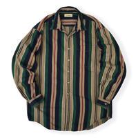 90's L.L.Bean / Multi Striped Shirt / Used