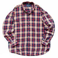 "90's Ralph Lauren / Cotton Multi Checked B.D Shirt ""BLAIRE"" Used"