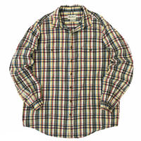 90's Eddie Bauer / Cotton Multi Check Shirt / Used