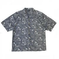 OP / Hawaiian Open Collar Shirt / Charcoal / Used